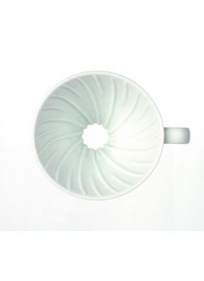 Пуровер Hario V60 02 белый керамический для заваривания кофе на 1-4 чашки