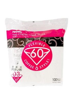 Бумажные белые фильтры для пуровера 03 Hario, 100 шт